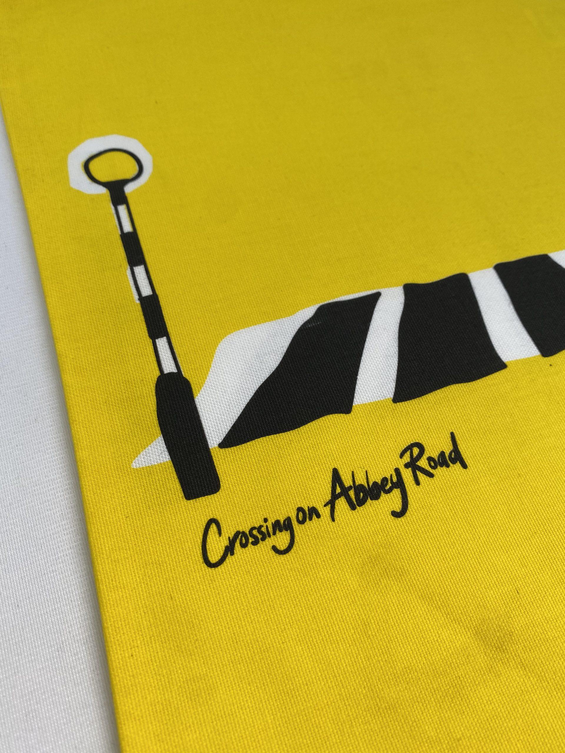 Abbey Road printed textile bag