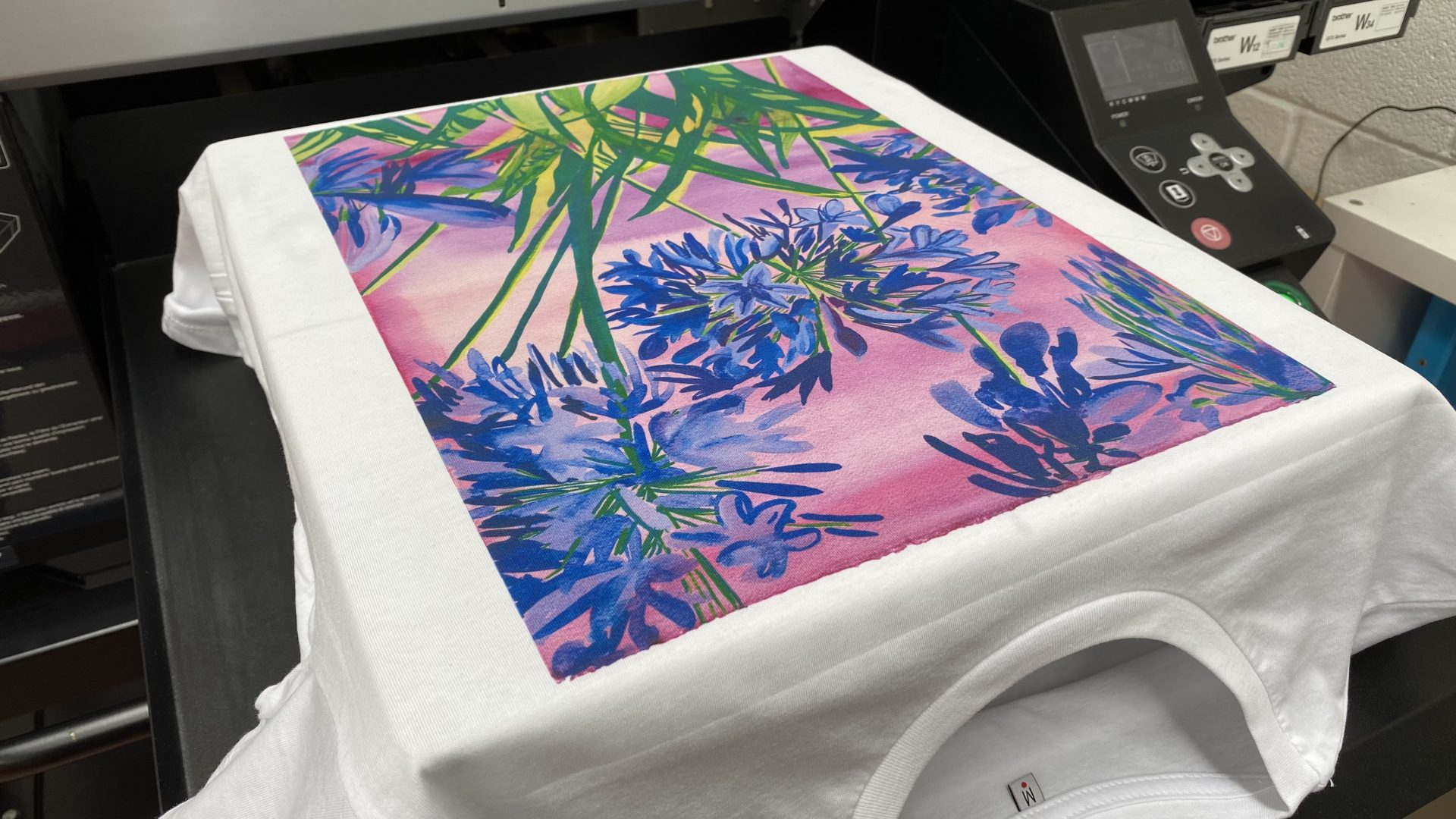 Direct to garment printed t-shirt by Paul Bristow