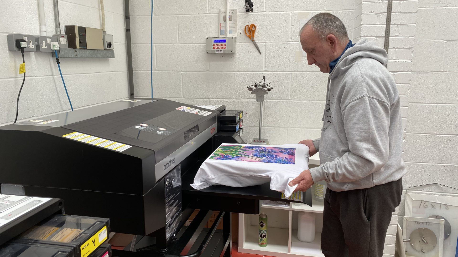 direct to garment printing perfect for print on demand production.