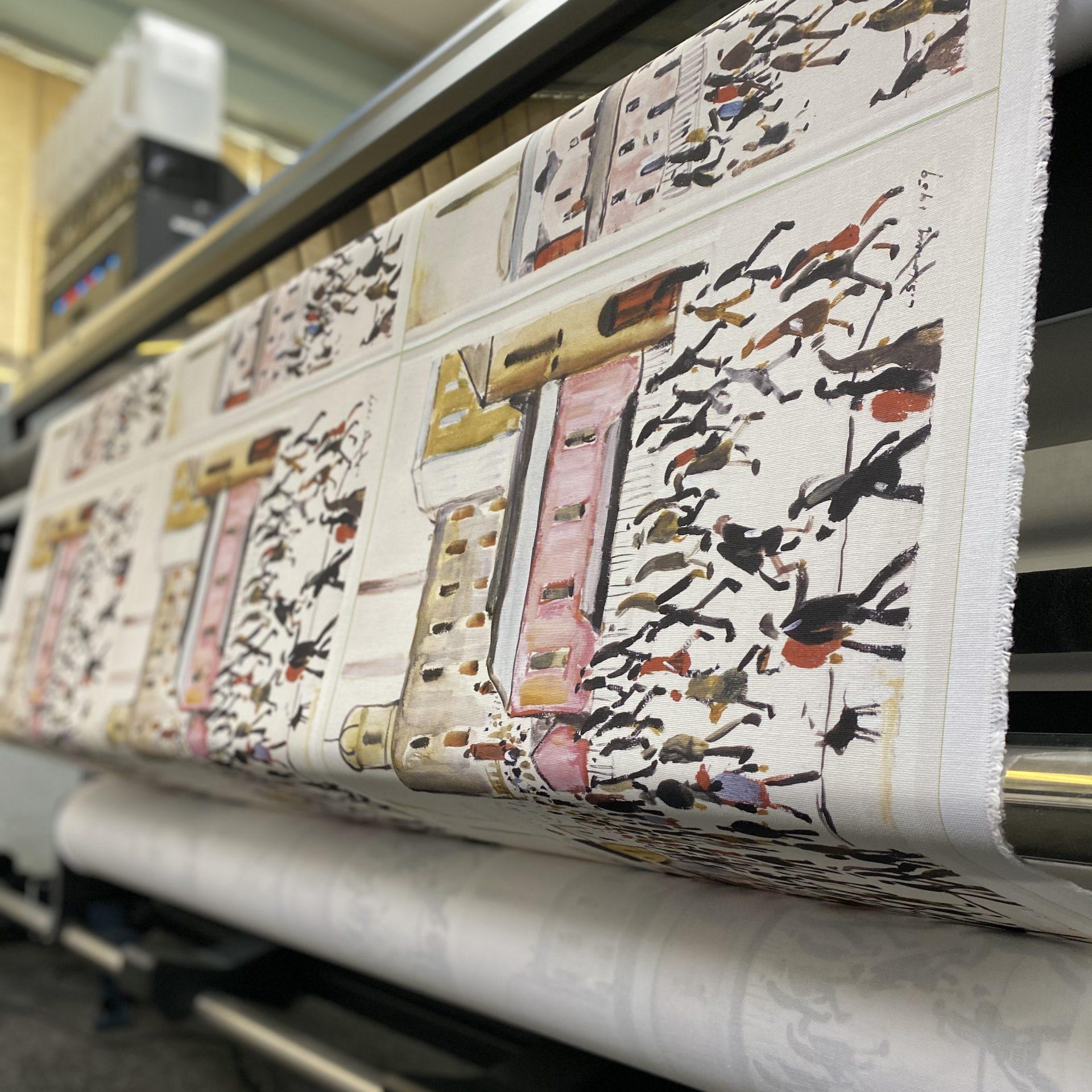 Digital Printng by Paul Bristow LS Lowry Tea Towel