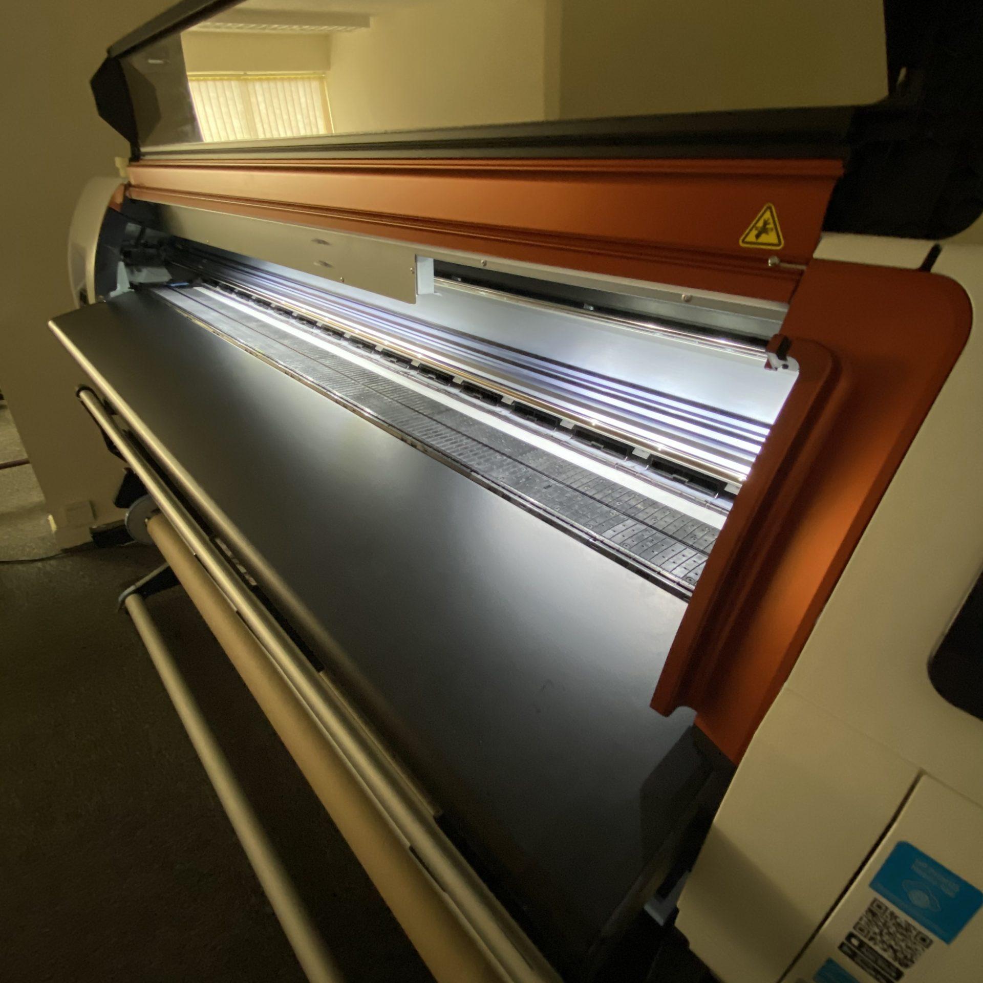 HP Stitch dye sublimation printer for textile merchandise