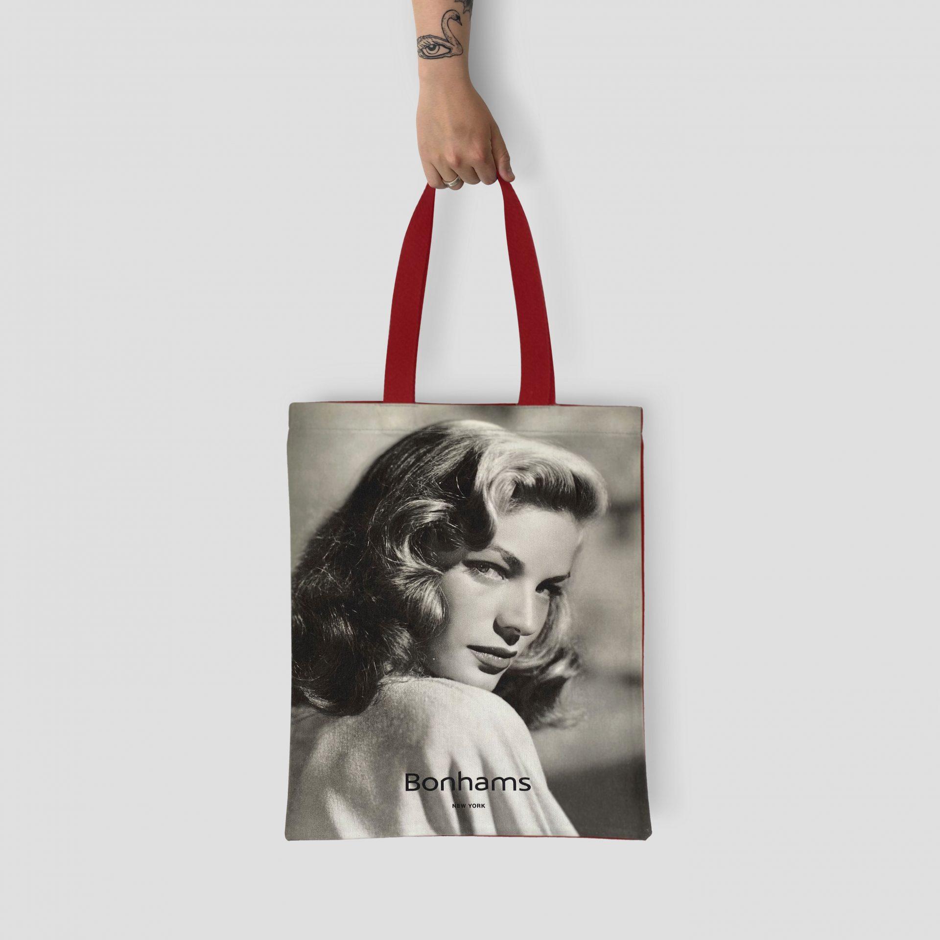 Lauren Bacall Bonhams tote bag