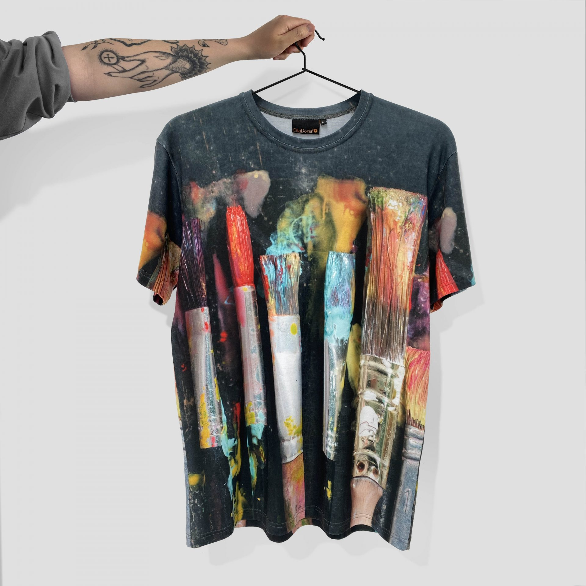Ella Doran for Tate Dye Sublimation t-shirt by Paul Bristow's UK made t-shirt
