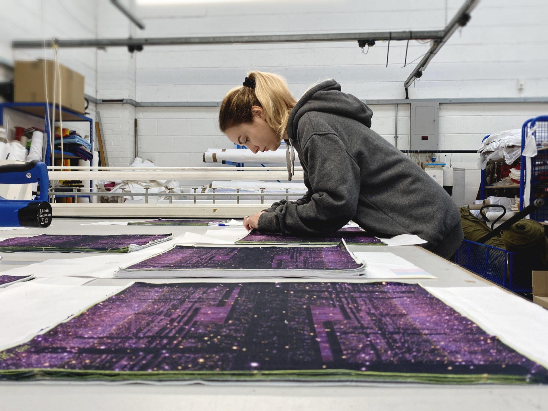 Bespoke made UK textile merchandise