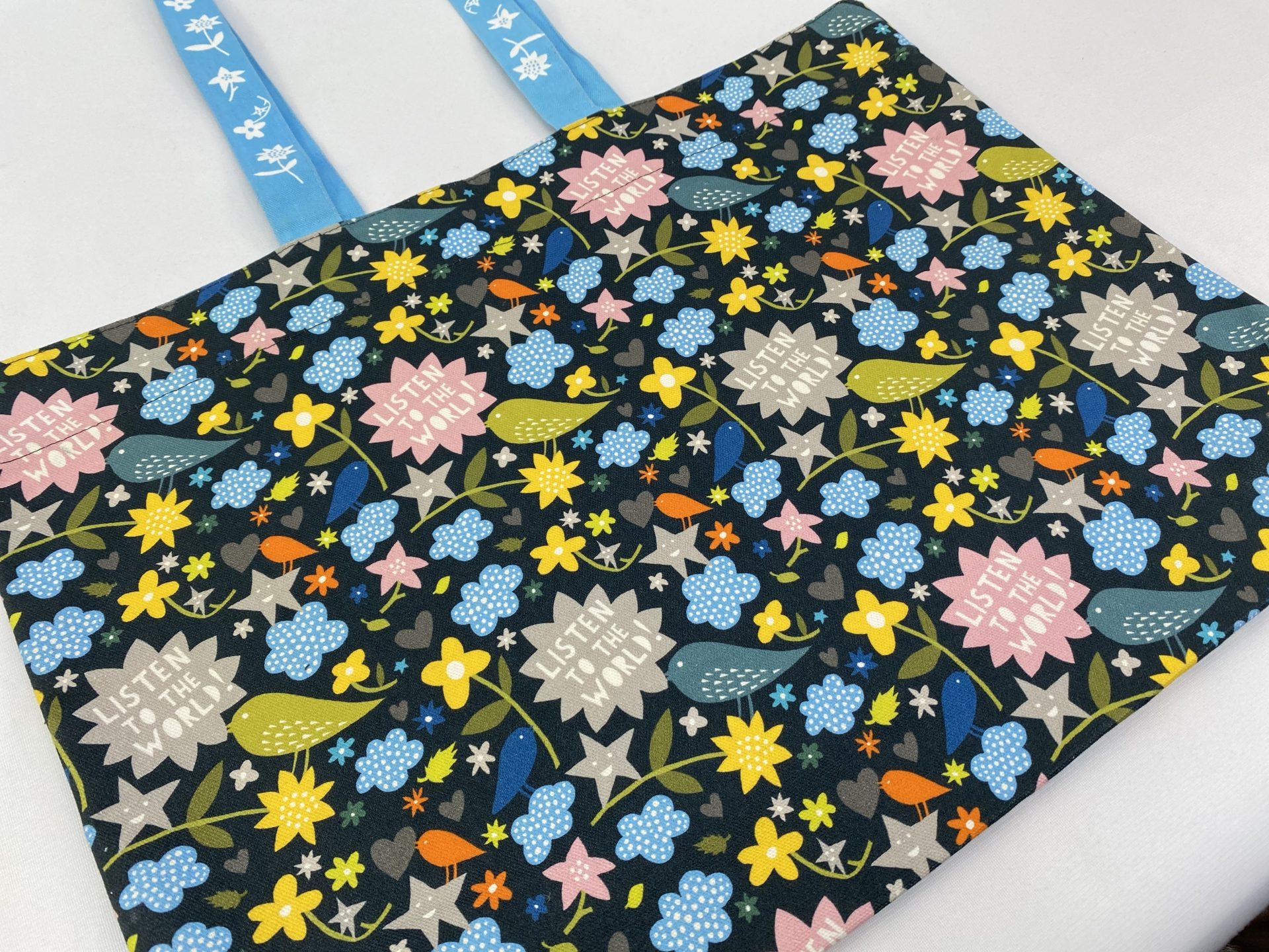 YSP Rob Ryan Listewn to the World printed textile bag