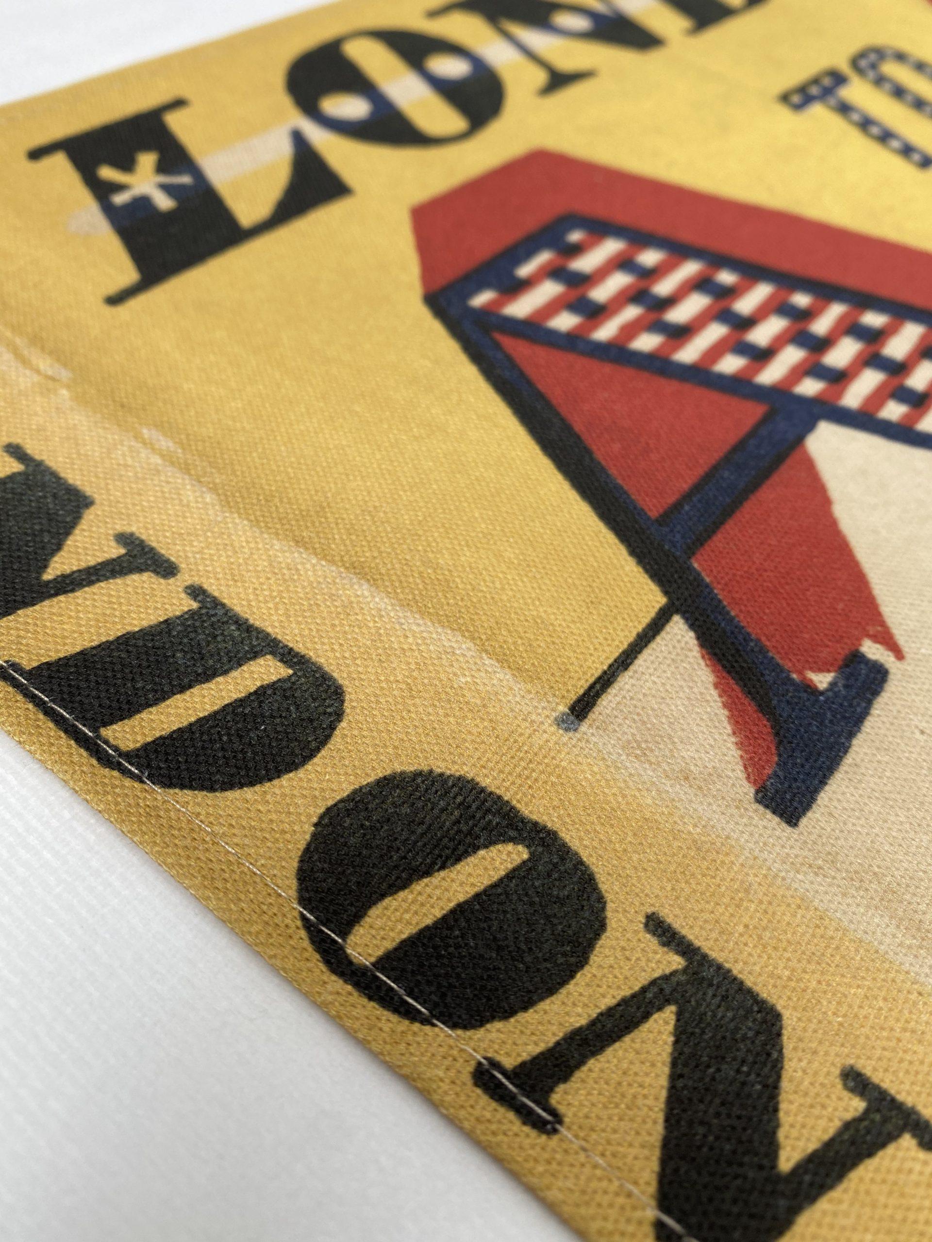 AZ London organic printed Tea Towel