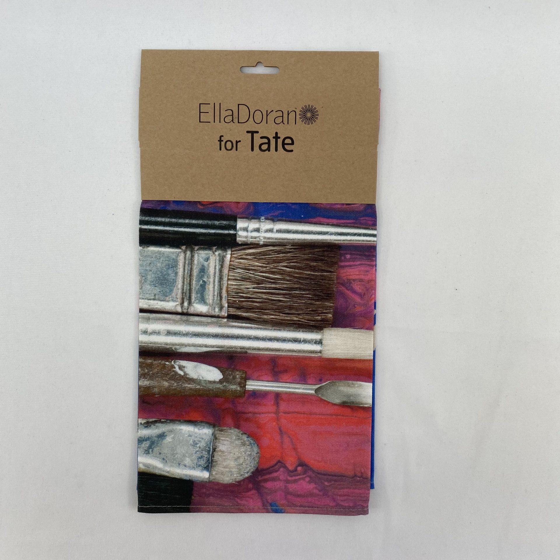 Ella Doran Paint Brushes Bespoke Printed Tea Towel