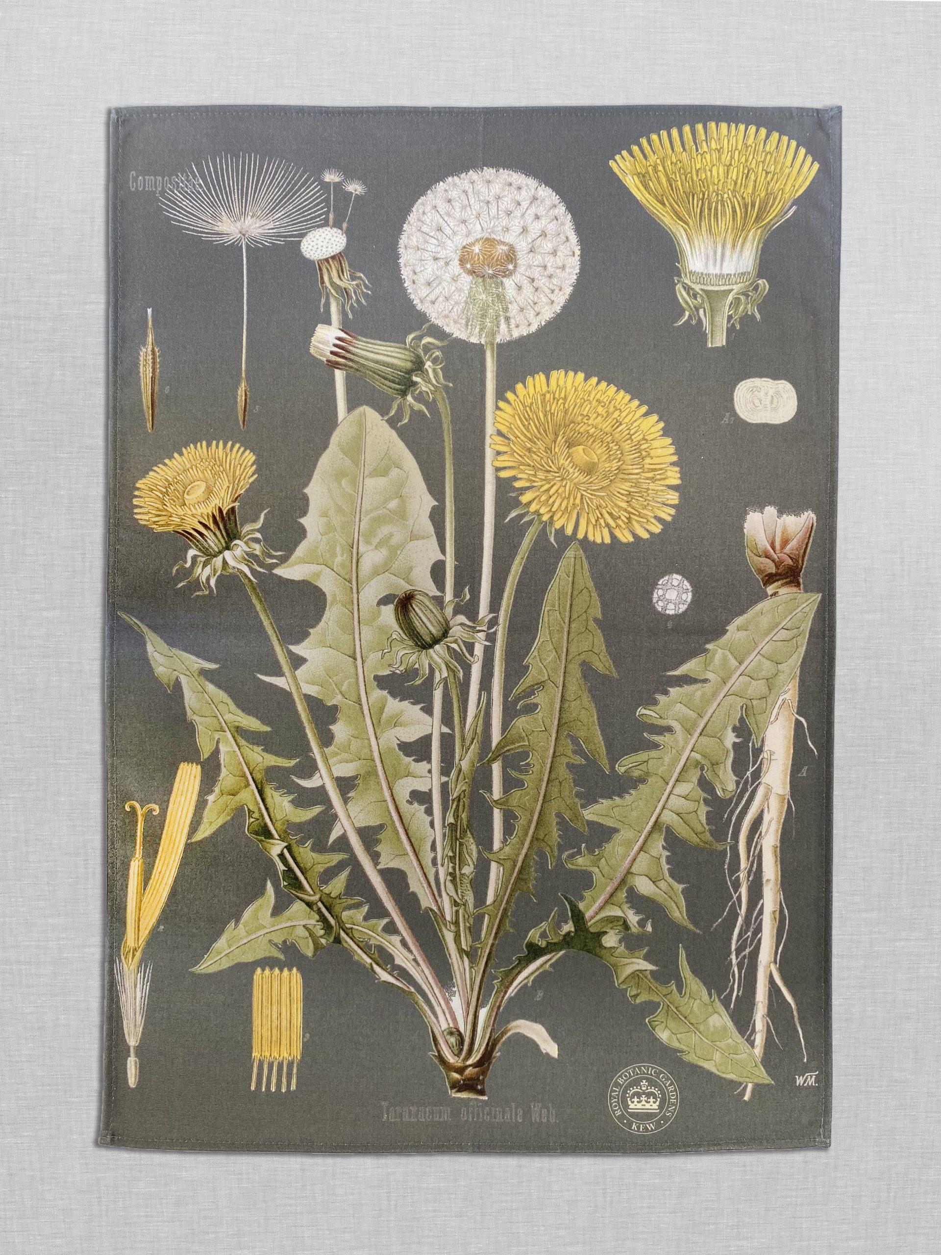 Kew Seeds Bespoke Printed Tea Towel