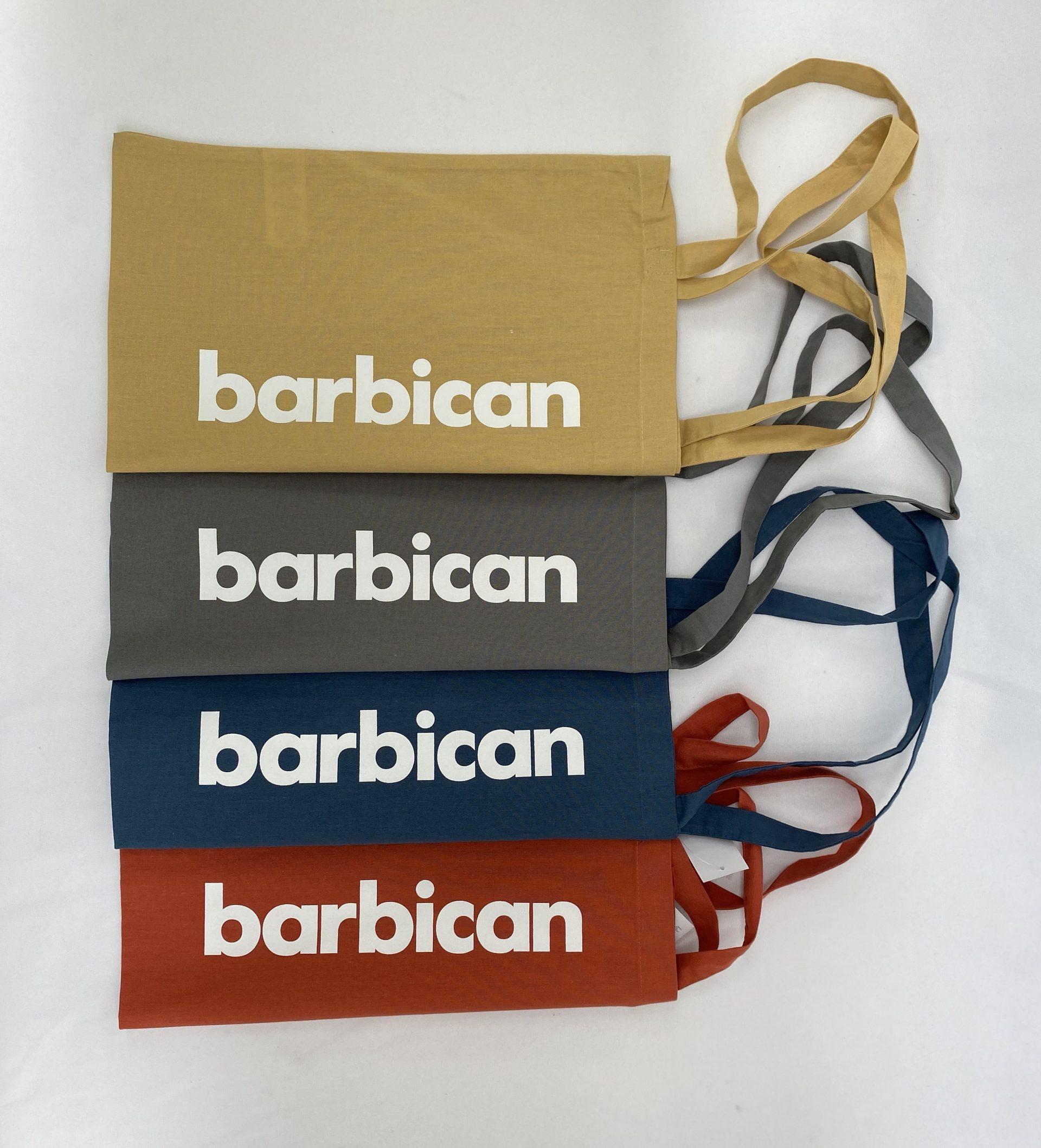 Barbican printed tote bags