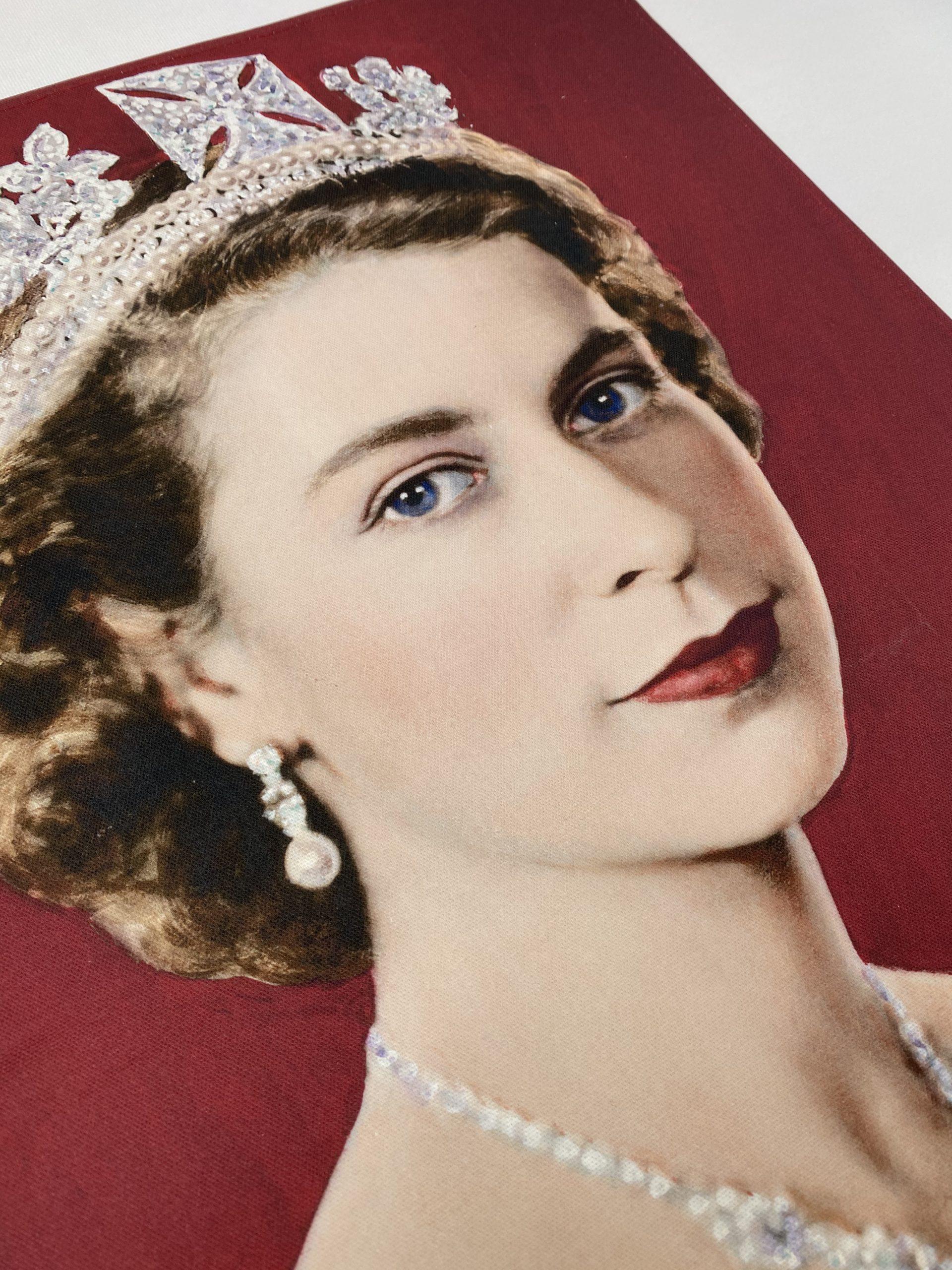 Queen Elizabeth Bespoke Printed Tea Towel