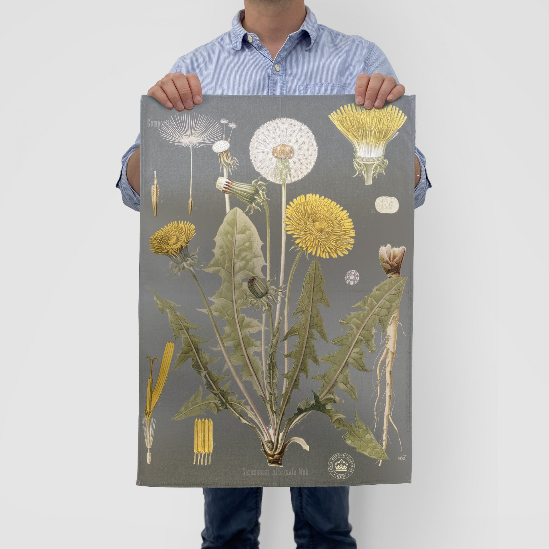 Printed tea towel for visitor attractions by Paul Bristow