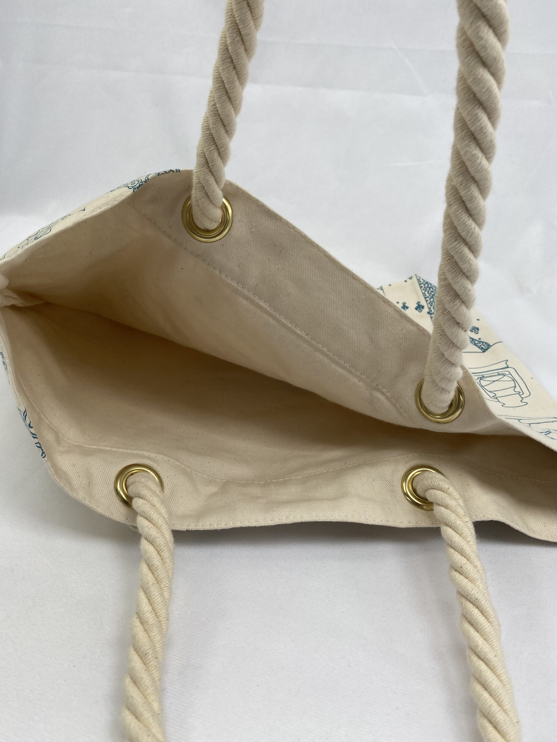 Qatar Musuem Bag with Rope Handles