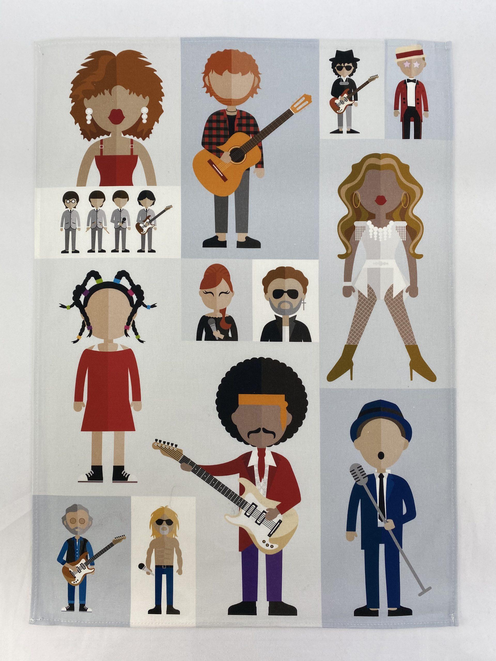 Royal Albert Hall Icons Printed Bespoke Tea Towel