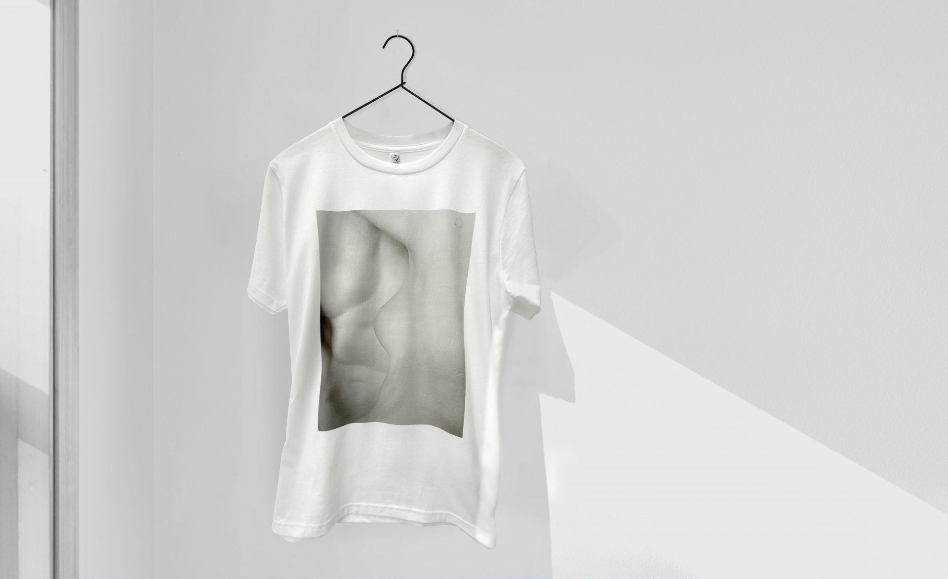 DTG printed t-shirt merchandise by Paul Bristow, Organic t-shirt for Tate