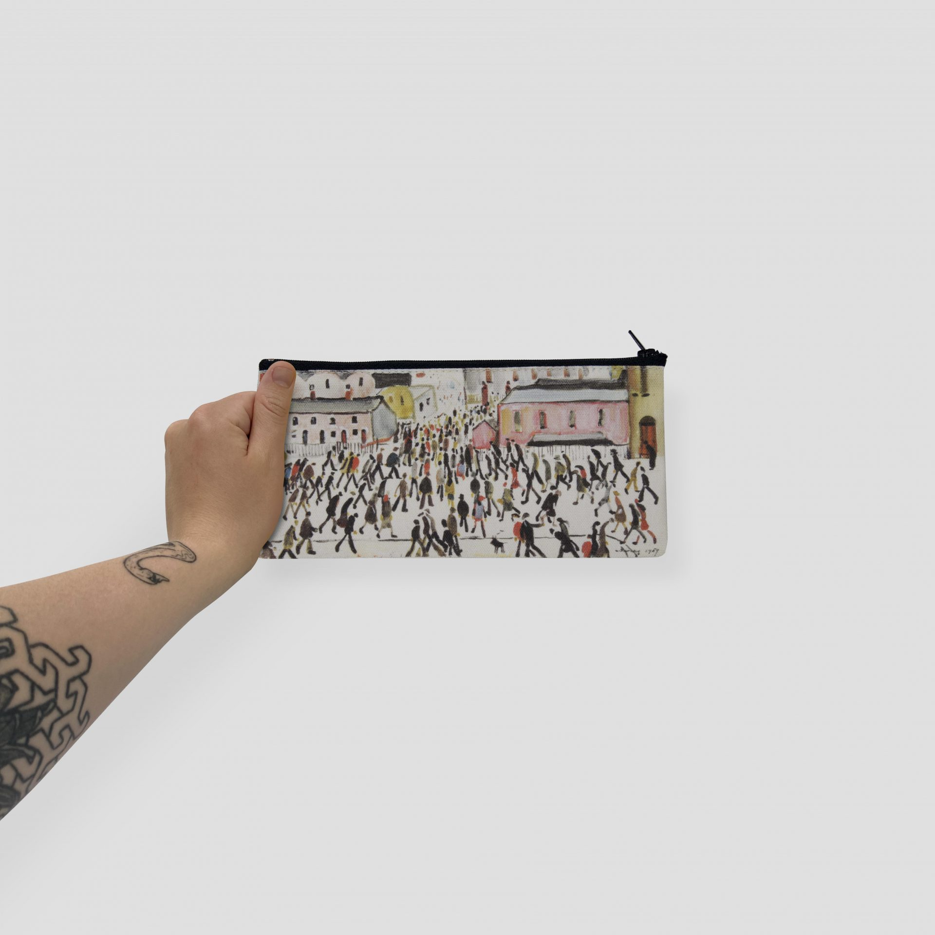 Custom printing on textile like this pencil case by Paul Bristow in the UK