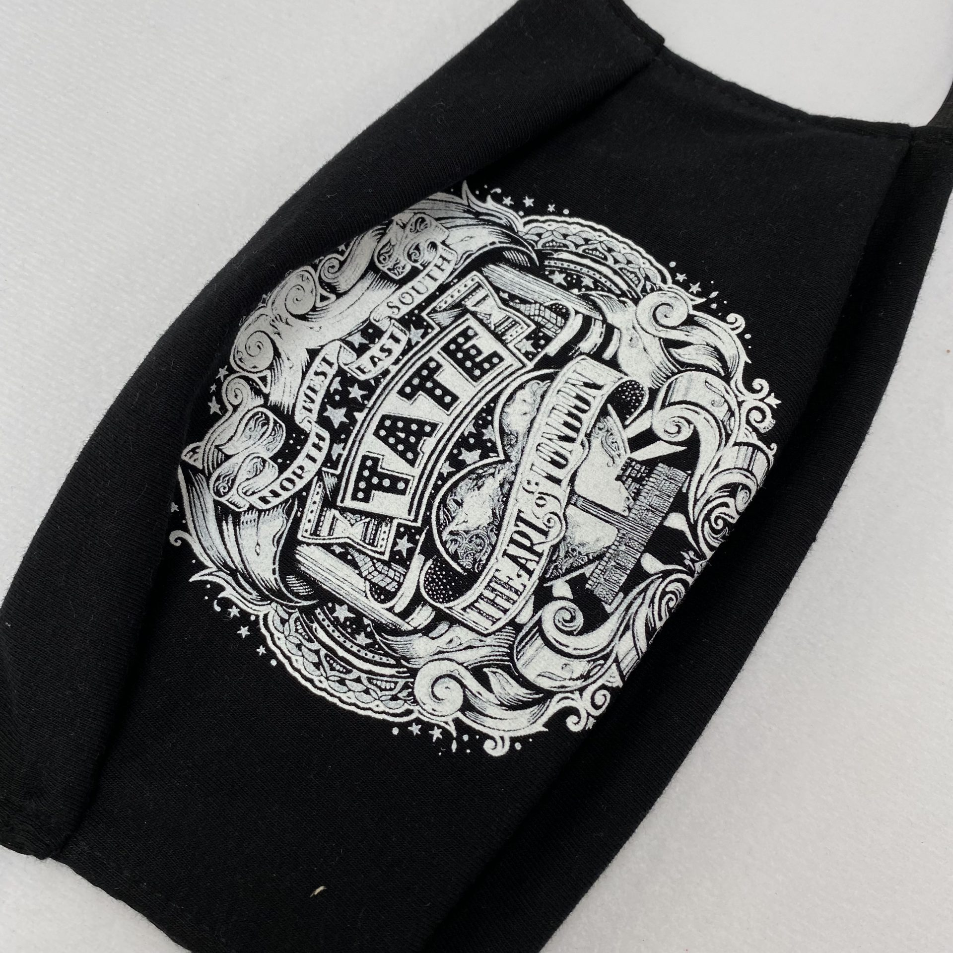 Printed textile face mask made in the UK by Paul Bristow's
