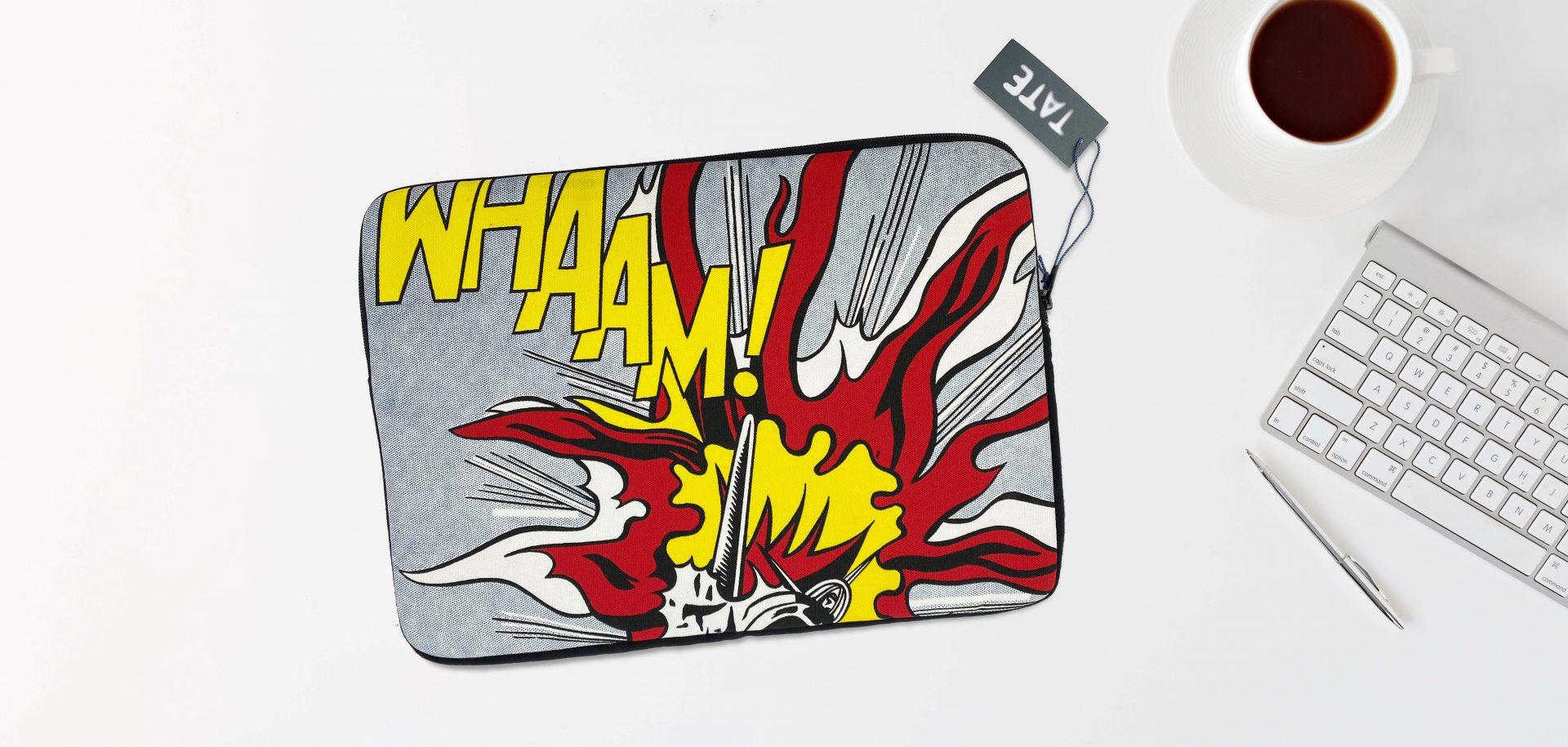 Roy Liechtenstein Wham Laptop Bag