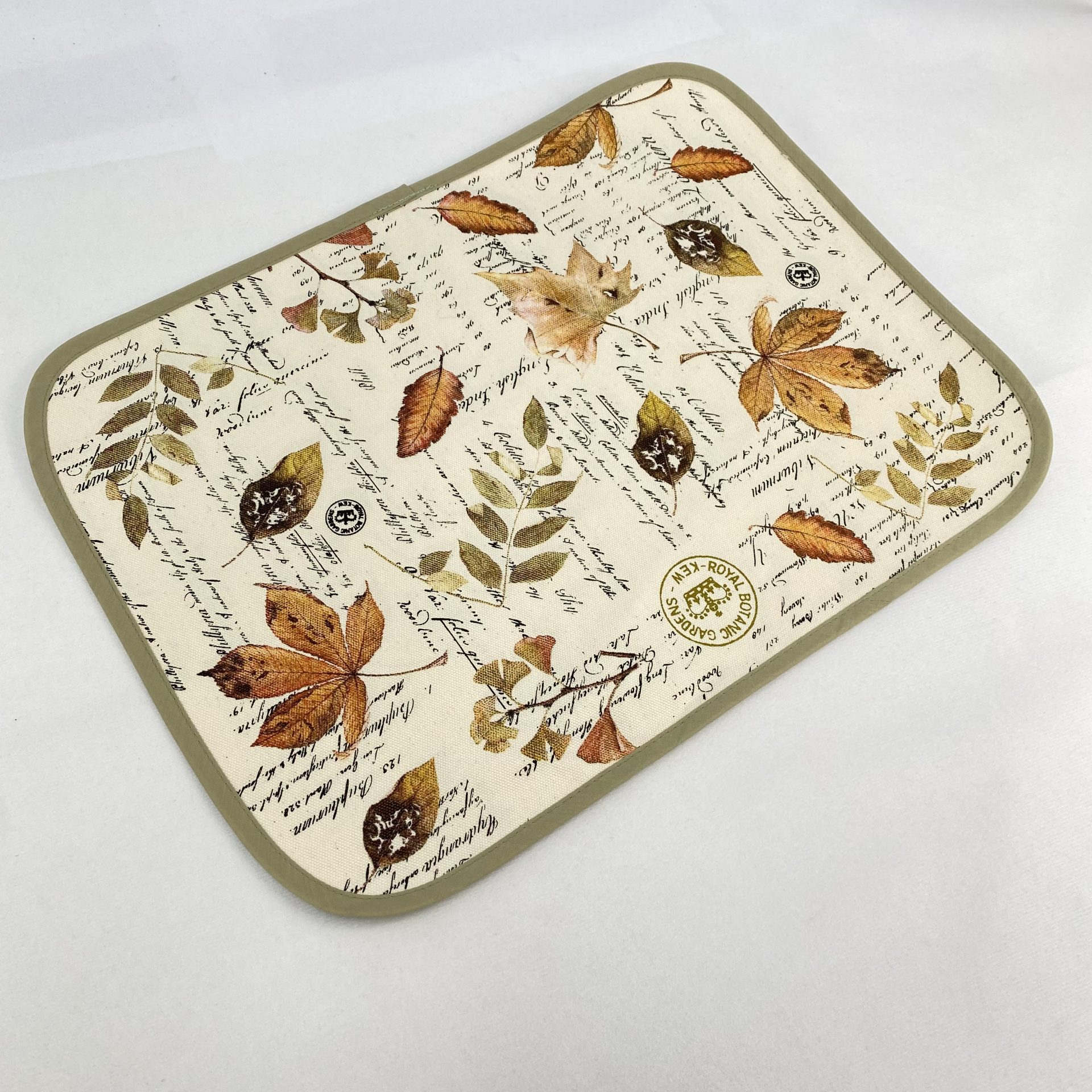Screen printed placemat by Paul Bristow UK made quaity printed textile products