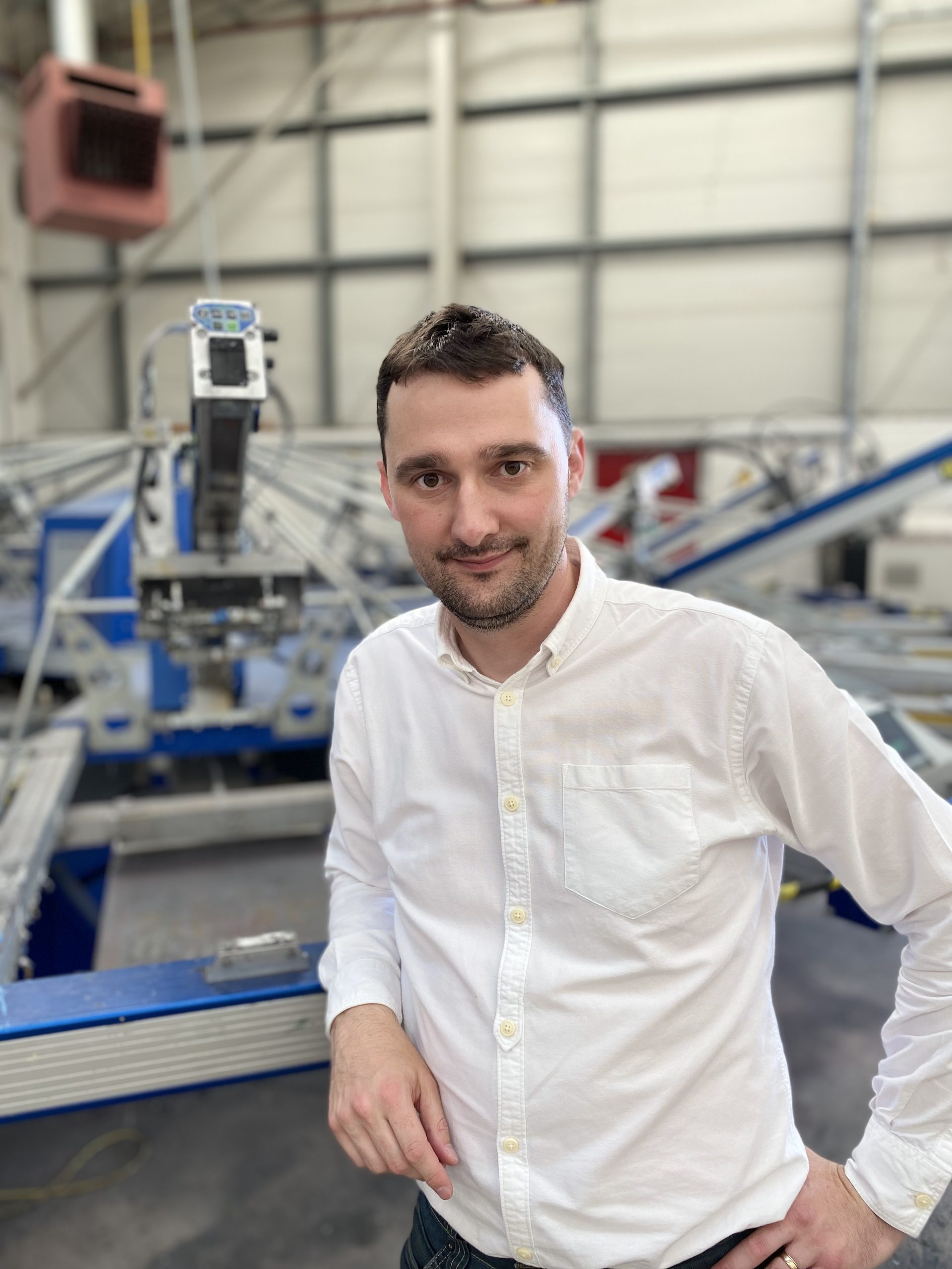 Seb Bristow director at paul bristow manufactures of printed textile products in the UK