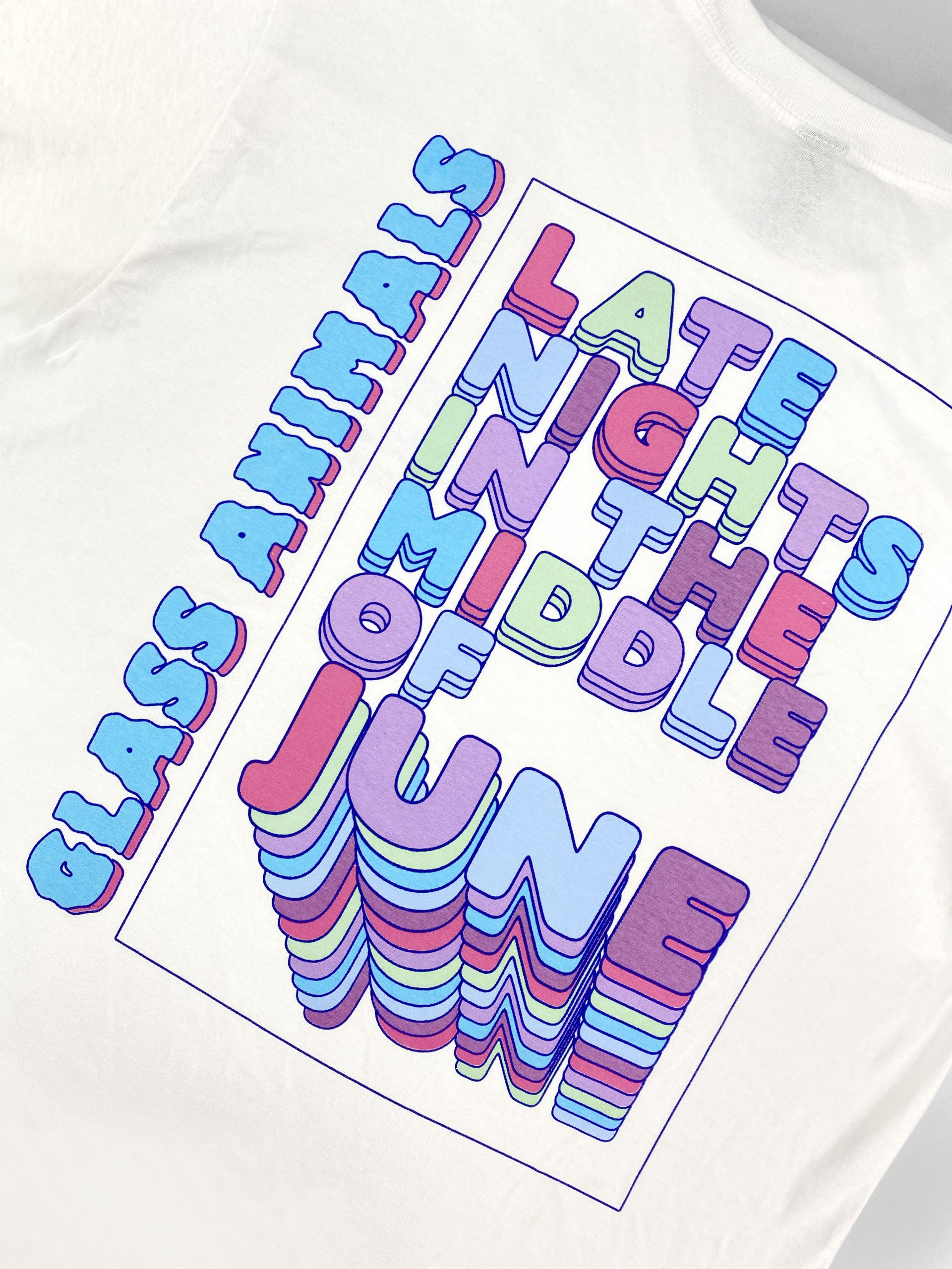 Glass Animals screen printed t-shirt lead image