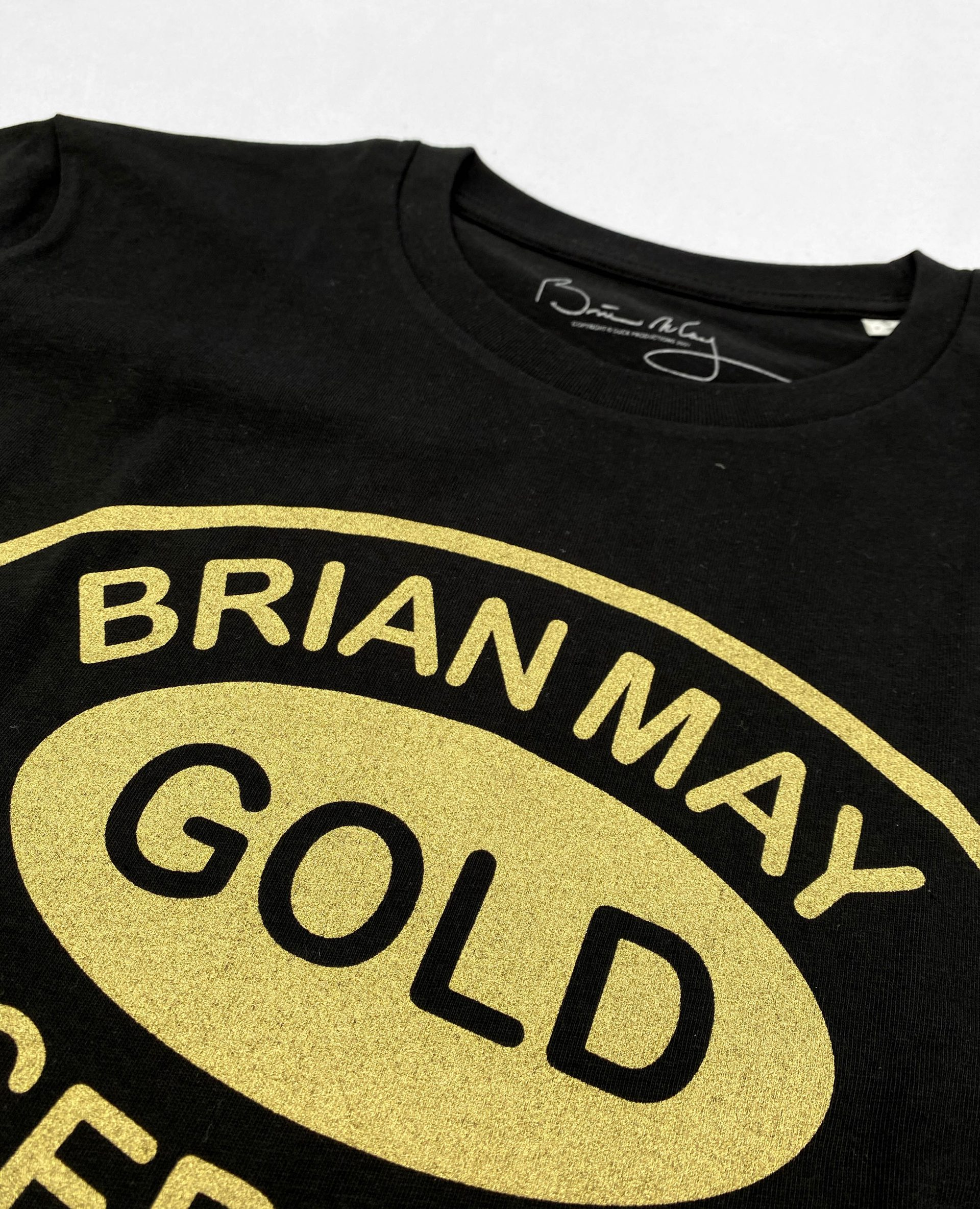 Screen printed with a metalic gold ink for Brian May and Universal Music by Paul Bristow's