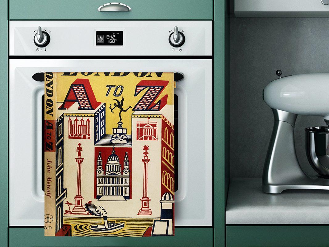 Dulwich Picture Gallery Tea Towel AZ of London Edward Bawden