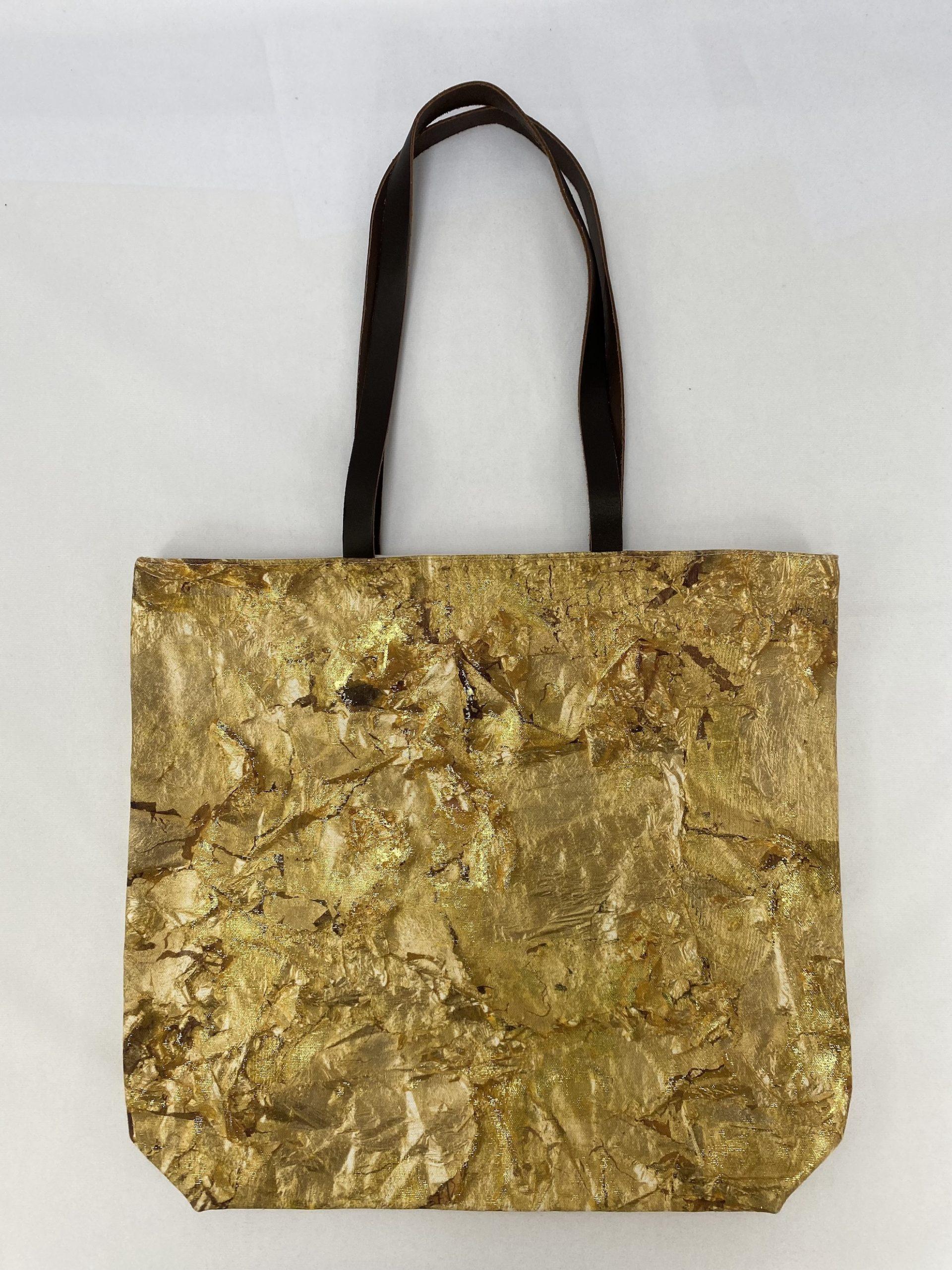 Paul Bristow's innovative gold foil printing onto a digitally printed tote bag