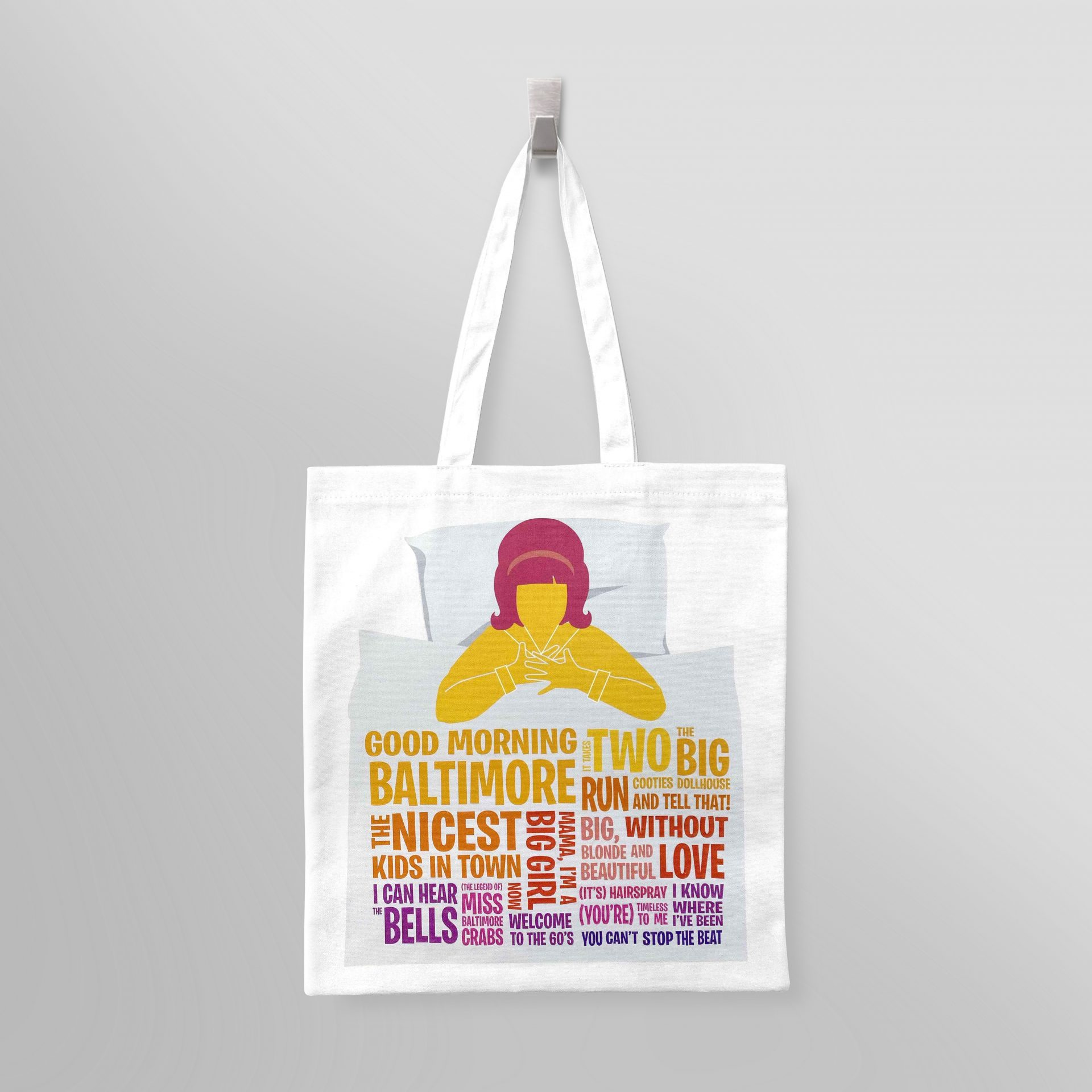 Printed tote bags for theatres and attractions by Paul Bristow