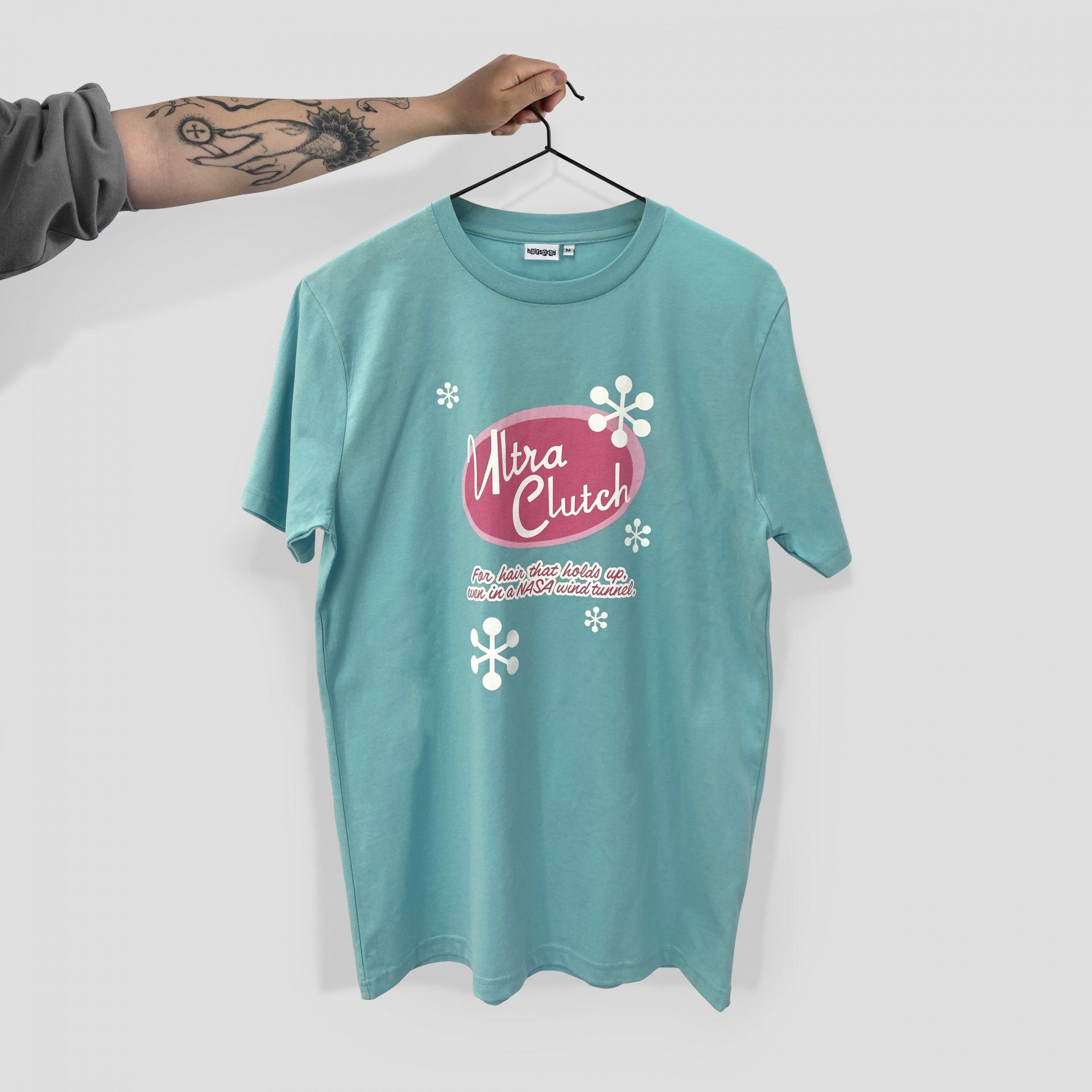 Screen printed Ultra Clutch T-shirt
