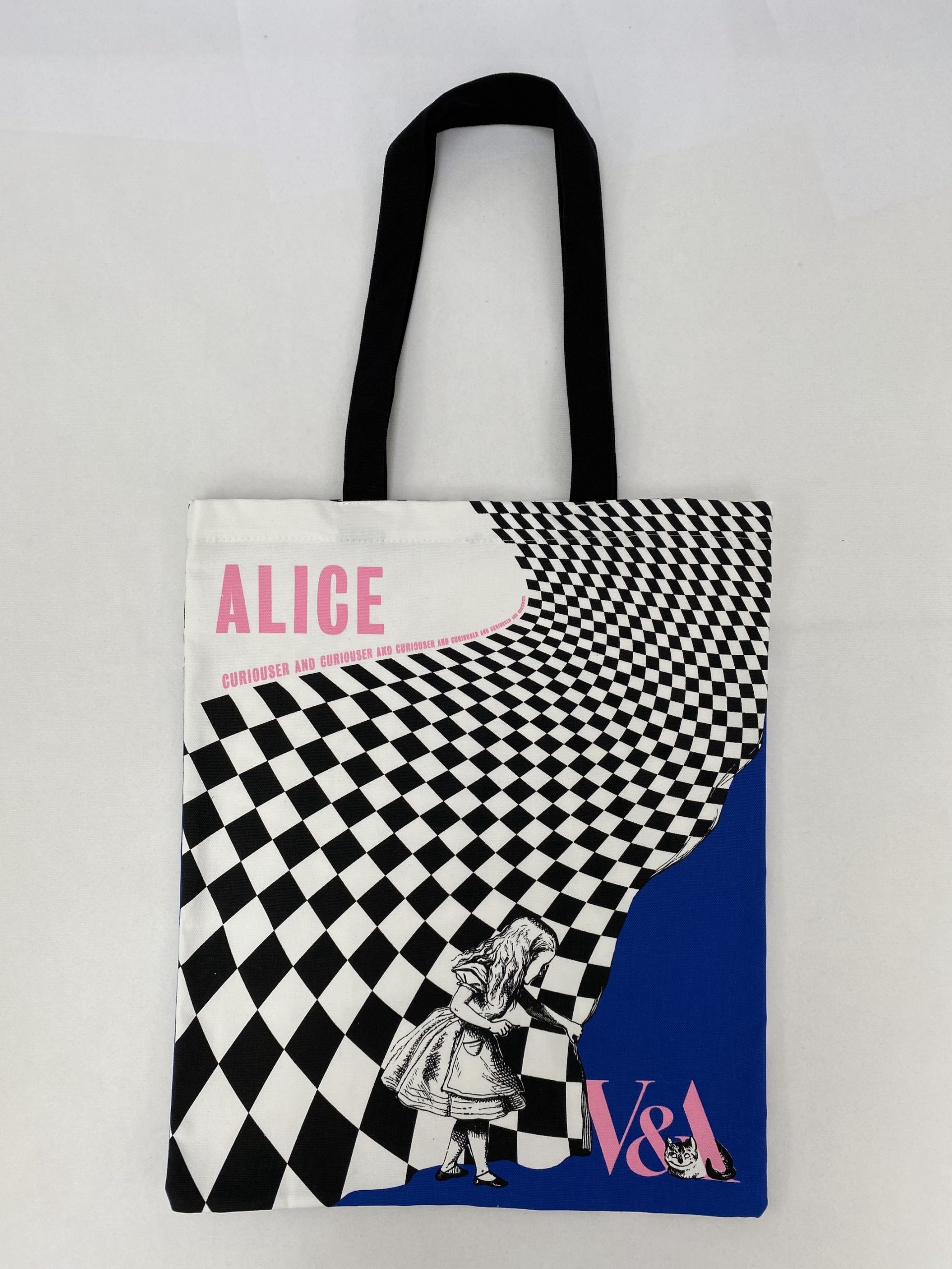 Screen printed bespoke bag for the V&A by Paul Bristow