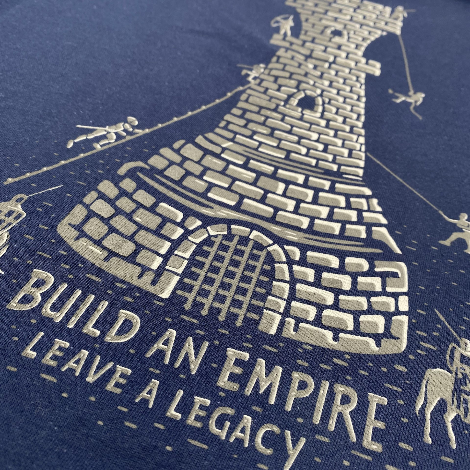 T-shirts designed and printed by Paul Bristow's using expanding inks