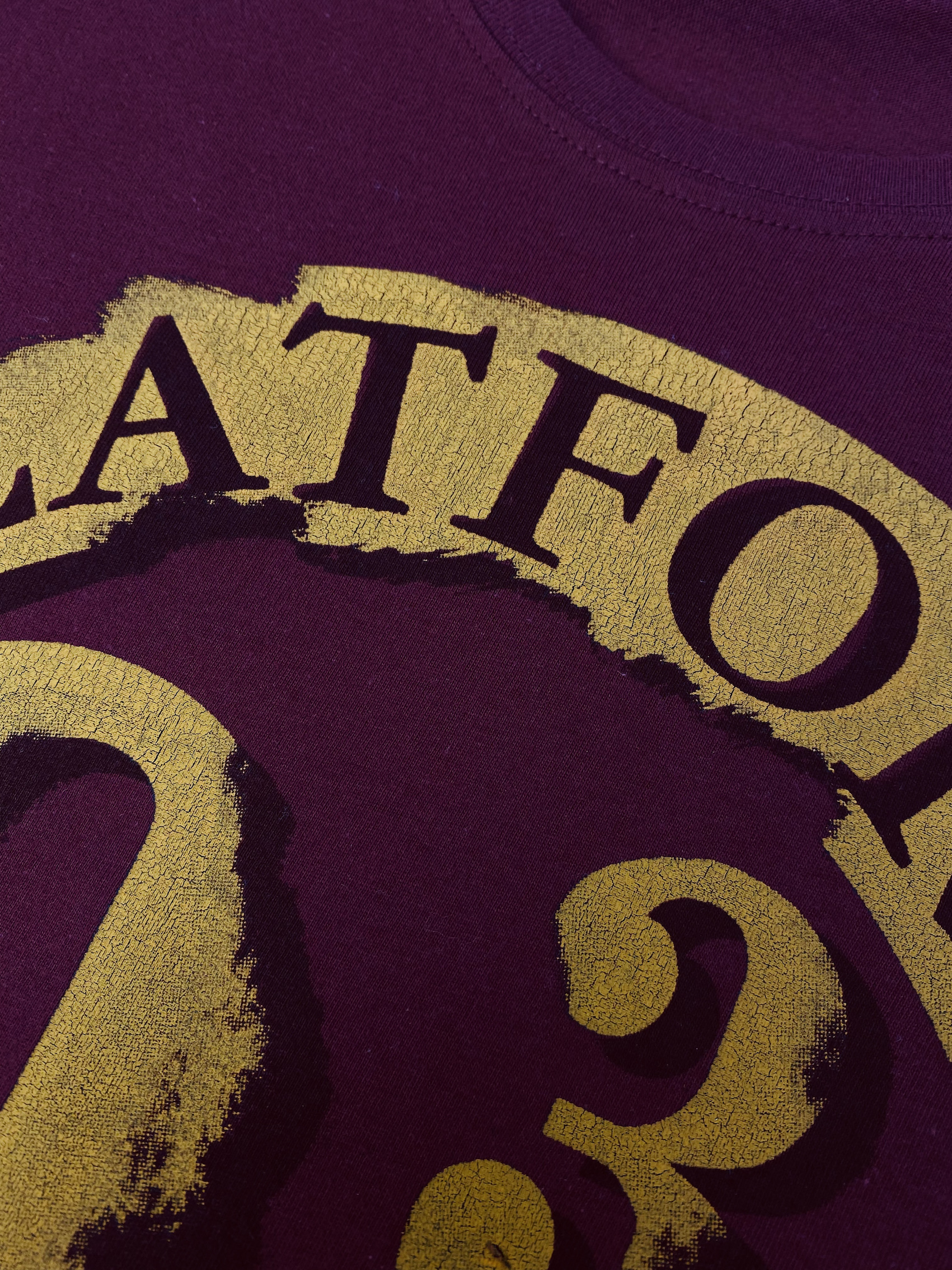 Using cracking ink can provide the feel of age to the right t-shirt designs
